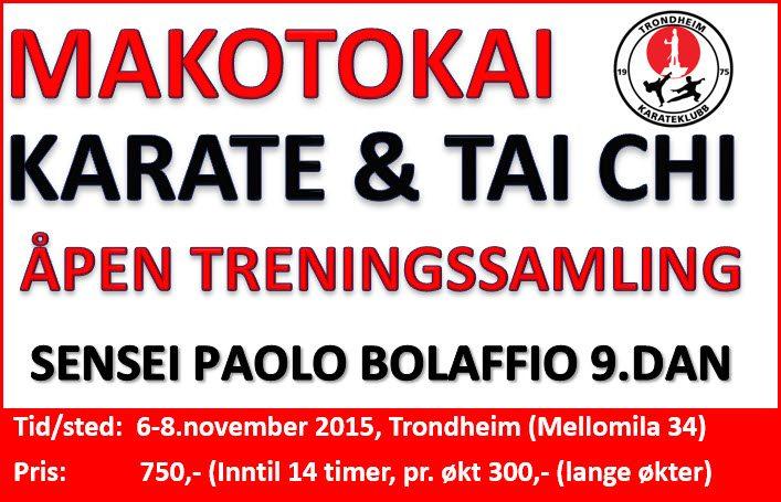 Treningssamling med Paolo Bolaffio 9.dan 6-8.november 2015