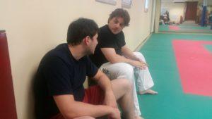 Brødrene Corrado og Riccardo Savino som driver Jin Dojo, Padova.