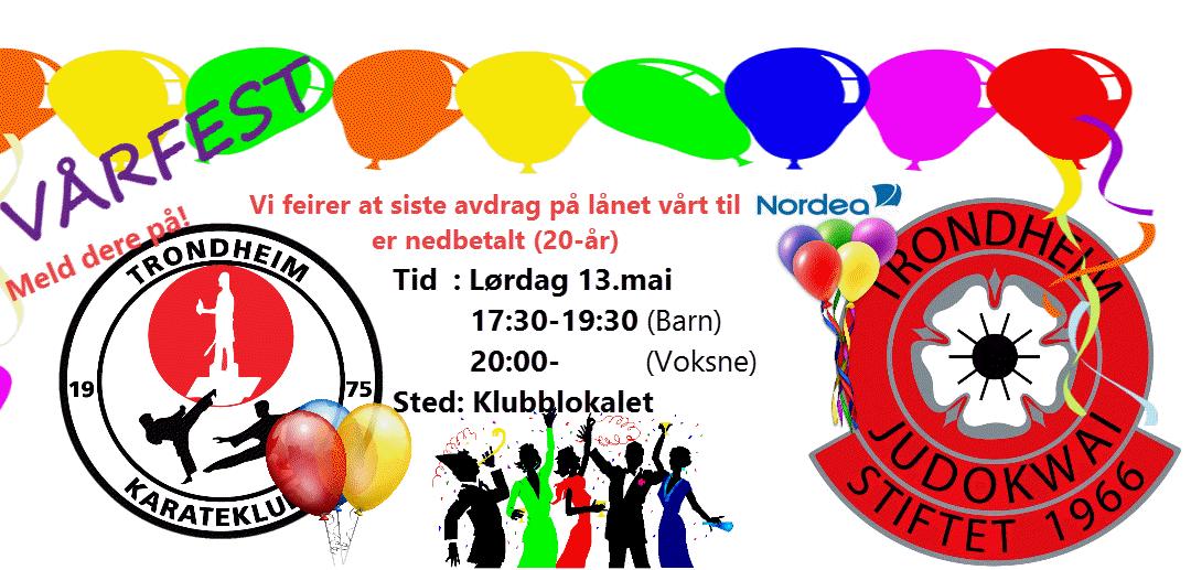 Invitasjon til vårfest sammen med Judoklubben