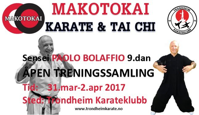 Samling med Sensei Paolo Bolaffio 9.dan (31.mars-2.april)
