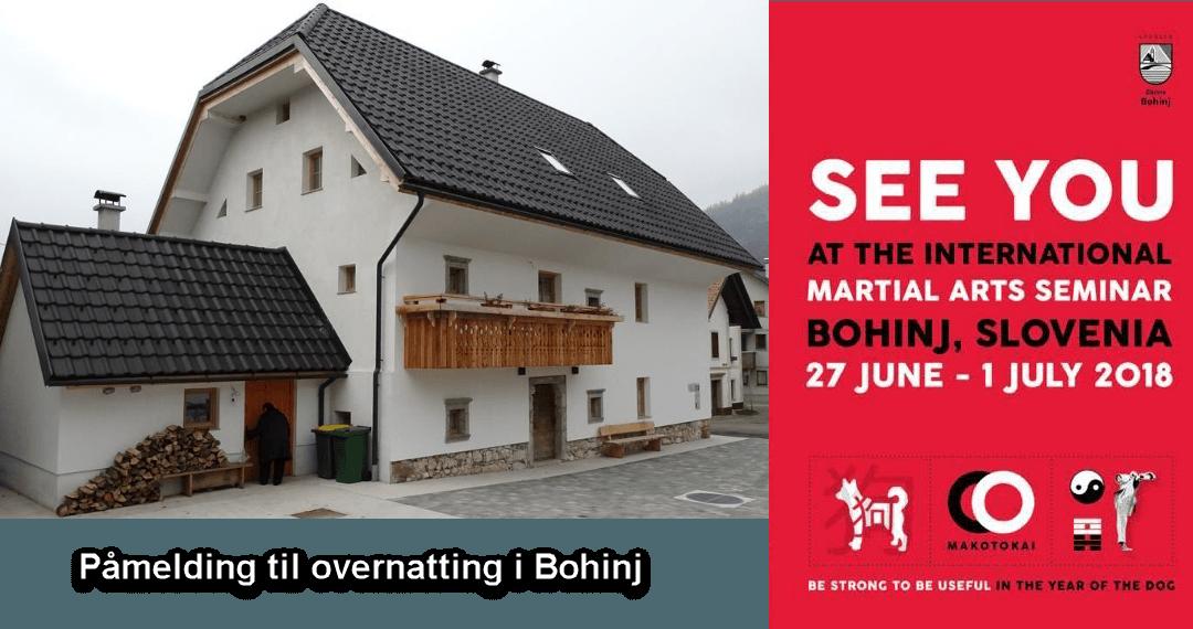 Påmelding for overnatting på sommerleiren i Bohinj