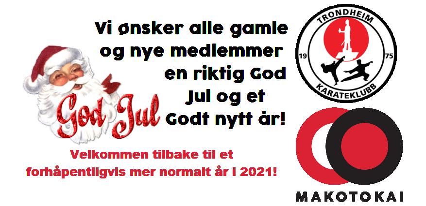 God jul og godt nytt år ønskes fra Trondheim Karateklubb
