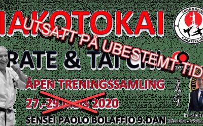 Åpen treningssamling med Paolo Bolaffio 9.DAN